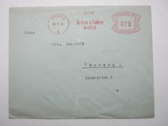 Firmen Freistempel , Meterstempel Auf Beleg Aus   1935 , Krefeld