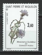St. Pierre & Miquelon Mi 651 ** MNH Monochamus Scutellatus