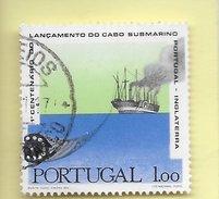 TIMBRES - STAMPS - PORTUGAL - 1970 - 1. CENTENAIRE DU LANCEMENT DU CÂBLE SOUS-MARIN PORTUGAL-ANGLETERRE