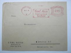 Firmen Freistempel , Meterstempel Auf Beleg Aus   1930 , Krefeld