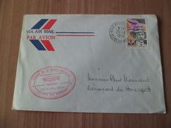 """Lettre Par Avion Courrier Par Dirigeable """"Europa"""" Survol De La Région Parisienne Le Bourget Le 26/04/1974 Le N° 1746  TB"""