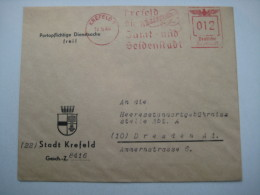 Firmen Freistempel , Meterstempel Auf Beleg Aus   1944, Krefeld