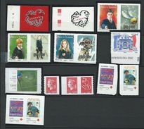 FRANCE - ANNEE 2007 - Tous Les Adhésifs émis Par Feuille Soit 7 Timbres + 7 Timbres De Carnets - Adhesive Stamps