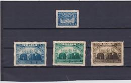 1946  Mi. 440,448/50, Scott B47,B50/52, Yvert 470,473/75 Mint Never Hinged