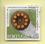TIMBRES - STAMPS - PORTUGAL - 1970 -1. CENTENAIRE DU LANCEMENT DU CÂBLE SOUS-MARIN PORTUGAL-ANGLETERRE- CLÔTURE DE SÉRIE