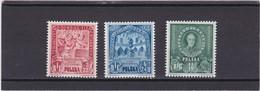 1946  Educational Work Mi. 445/47, Scott B49/49B, Mint Hinged