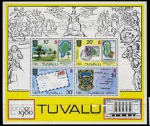 1980 - TUVALU  -  Catg.. Mi. Block 4 - NH - (UP554641.85.29) - Tuvalu