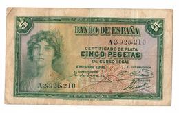 Spain 5 Pesetas 1935 - [ 2] 1931-1936 : Republic