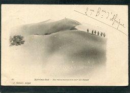 CPA - ALGERIE - Extrême Sud - En Reconnaissance Sur Les Dunes, Animé  (dos Non Divisé)