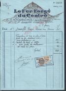 FACTURE ILLUSTRÉE DE 1935 E. MASSY LE FER FORGE DU CENTRE À CLERMONT FERRAND : - Petits Métiers