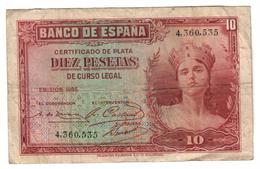 Spain 10 Pesetas 1935 - [ 2] 1931-1936 : République