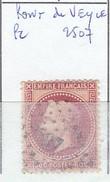 AIN - S/ 32 - 80c Napoleon III Lauré  Rose  - Oblit   PC 2507 (  Pont De Veyle ) - Marcophilie (Timbres Détachés)