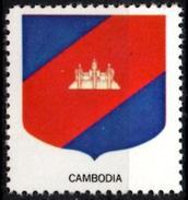 VIgnette Cinderella Seal Label Cambodia Coats Of Arms -