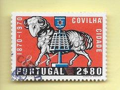TIMBRES - STAMPS - PORTUGAL - 1970 - 1. CENTENAIRE DE LA VILLE DE COVILHÃ - TIMBRE CLÔTURE DE SÉRIE