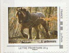 FRANCE Issu Collector 2009 La France Que J'aime - Timbre Neuf ** : Cheval L'Ardennais - Thème Ferme Animaux - France