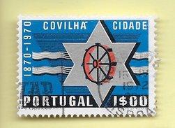 TIMBRES - STAMPS - PORTUGAL - 1970 - 1. CENTENAIRE DE LA VILLE DE COVILHÃ - TIMBRE OBLITÉRÉ
