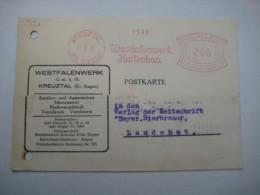 Firmen Freistempel , Meterstempel Auf Beleg Aus   1930 , Kreuztal