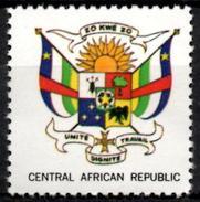 VIgnette Cinderella Central Africa Coats Of Arms - Sun Sonne Soleil Elephant Elefant Elefante Flags Fahnen