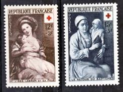 France  966 967 Croix Rouge 1953 Neuf ** TB  MNH  Sin Charnela Cote 23.5