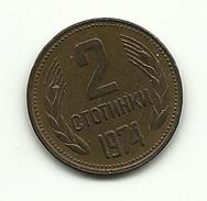 1974 - Bulgaria 2 Stotinki, - Bulgaria