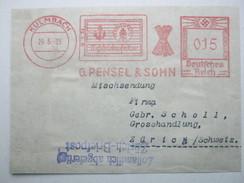 Firmen Freistempel , Meterstempel Auf Beleg Aus   1935 , KULMBACH , Mischsendung , VORDERSEITE