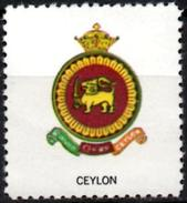 VIgnette Cinderella Sri Lanka Ceylon Coats Of Arms - Crown Lion Lions Löwen Löwe Leones Cats Sword