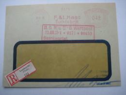 Firmen Freistempel , Meterstempel Auf Beleg Aus   1933  , LAMBRECHT , VORDERSEITE