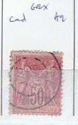 AIN - S/ 98 - 50c Sage  Rose - Oblit   CAD  A2 (  Gex )