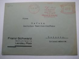Firmen Freistempel , Meterstempel Auf Beleg Aus   1935 , Landau