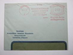 Firmen Freistempel , Meterstempel Auf Beleg Aus   1937 , Landshut ,  , Etwas Verkürzt