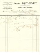 Facture De Joseph Lequy-Denuit Entrepreneur à Court-St-Etienne Datée Du 27/7/1917 PR4116 - 1900 – 1949