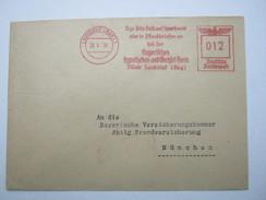 Firmen Freistempel , Meterstempel Auf Beleg Aus   1939 , Landshut