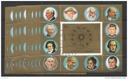 10x FUJEIRA - Famous People - De Gaulle - Napoleon - Signs Of The Zodiac -  CTO
