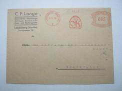 Firmen Freistempel , Meterstempel Auf Beleg Aus   1930 , Landsberg  (Warthe)