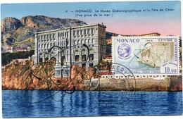 MONACO CARTE MAXIMUM DU PA 80 AGENCE INTERNATIONALE DE L'ENERGIE ATOMIQUE OBLITERATION 1er JOUR MONACO 6-6-62