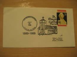 ST. ALOYSIUS CATHOLIC PARISH Christianity Religion RANSOM 1989 Cancel Cover USA
