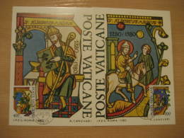 SAINT ALBERT LE GRAND Yvert 698/9 Christianity Religion VATICANO 1980 Maxi Maximum 2 Card VATICANE