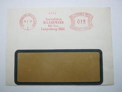 Firmen Freistempel , Meterstempel Auf Beleg Aus   1933  ,  Langenberg, Etwas Verkürzt