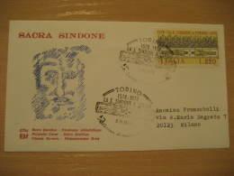 SACRA SINDONE Christianity Religion TORINO 1978 Cancel Cover ITALY