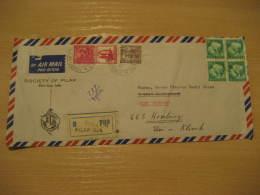 SOCIETY OF PILAR Christianity Religion PILAR GOA 1989 ? Air Mail Registered Cover INDIA