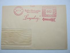 Firmen Freistempel , Meterstempel Auf Beleg Aus   1934  ,  Langenberg, Etwas Verkürzt