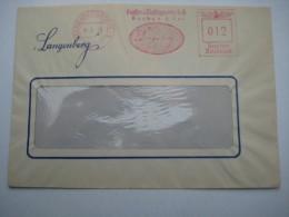 Firmen Freistempel , Meterstempel Auf Beleg Aus   1943  ,  Langenberg