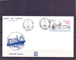 T.A.A.F - Chalutier Austral - FDC -  Martin De Vivies St. Paul 1/1/1983  (RM11421) - Terres Australes Et Antarctiques Françaises (TAAF)