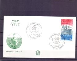 "T.A.A.F - Patrouilleur ""Albatros"" - Alfred Faue Crozet - FDC - 2/7/84    (RM11425) - Terres Australes Et Antarctiques Françaises (TAAF)"