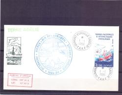T.A.A.F - M/s Polarbjorn - Dumont D'Urville  T. Adelie  1/1/86   (RM11426) - Lettres & Documents