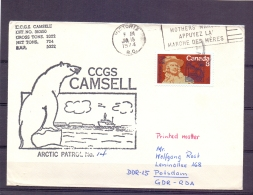 Canada - CCGS Camsell - Arctic Patrol No. 14 - Victoria 15/1/1974    (RM11434) - Stamps
