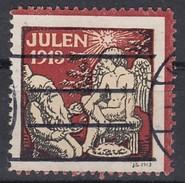 Dänemark, Julen 1913, Weihnachten, Reklamemarke, Julemaerket, Engel Und Zwerg - Erinnophilie