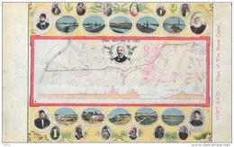 Port-Saïd - Plan Of The Suez Canal - Canal Maritime - Ferdinand De Lesseps En Médaillon - Port Said