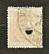 SPAGNA 1875 - Telegrafos - Alfonso XII - 50 C. Lila - Edi:ES 168T - 1875-1882 Regno: Alfonso XII