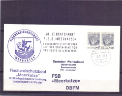 "Island - Fischereischutzboot ""Meerkatze"" - Reykjavik 15/8/1986  (RM11671) - Fishes"